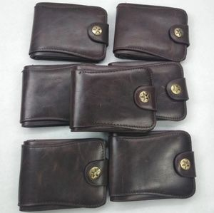 Other - Set of 7 Dark Brown Leatherette Wallets